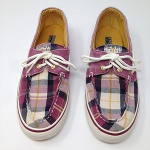 Sperry Top Sider Women Plaid Multi-Color 7.5M